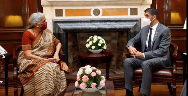 संयुक्त अरब अमीरात के विदेश व्यापार राज्य मंत्री डॉ. थानी बिन अहमद अल जायौदी ने वित्त मंत्री निर्मला सीतारमण से मुलाकात की