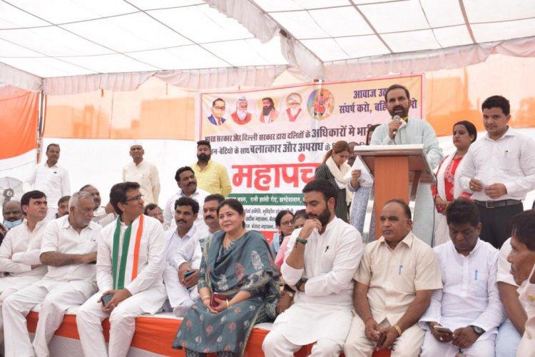तानाशाही शासन में दलितों हो रहे अत्याचारों के खिलाफ उन्हें न्याय दिलाने के लिए सिर्फ राहुल गांधी ही आवाज उठा सकते है।- शक्ति सिन्ह गोहिल